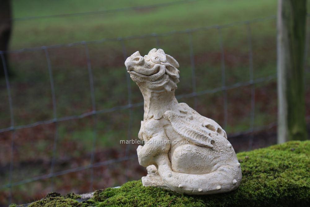 Huff Dragon Garden Ornament, Stone Dragon Garden Ornaments Uk