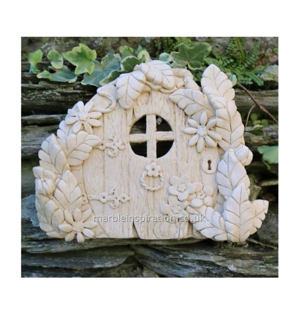 Garden Wall Plaques : Mythical Creatures & Fairy Wall Plaques : Ash Fairy Door Garden Wall Ornament