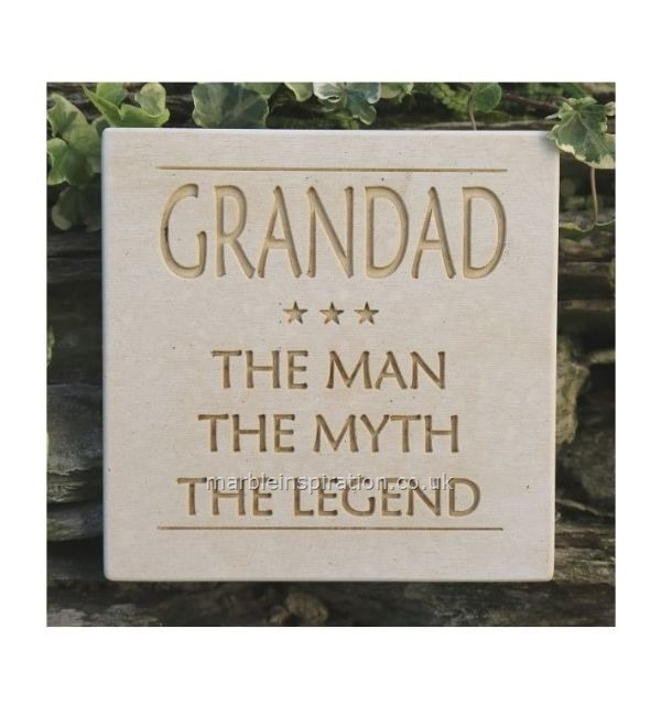 Garden Wall Plaques : Written Word Marble Plaques : Grandad Wall Sign