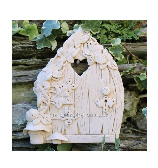 Garden Wall Plaques : Mythical Creatures & Fairy Wall Plaques : Ivy Fairy Door Garden Wall Ornament