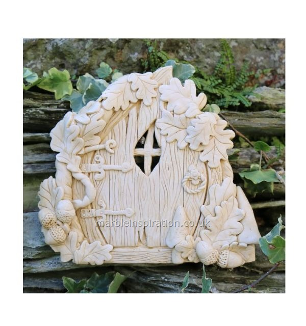 Garden Wall Plaques : Mythical Creatures & Fairy Wall Plaques : Oak Fairy Door Garden Wall Ornament
