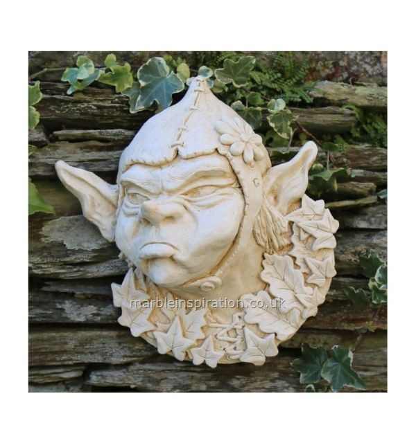 Pixie Face Marble Ornament 'Bertie'