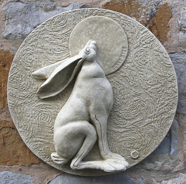Garden Wall Plaques : Animal Wall Plaques : Hare Wall Plaque 'Lunar Hare'