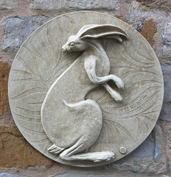 Garden Wall Plaques : Animal Wall Plaques : Hare Wall Plaque 'Spirit of St Melangell'