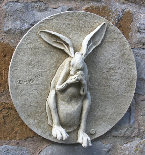 Garden Wall Plaques : Animal Wall Plaques : Hare Wall Plaque 'Hare and Seek'