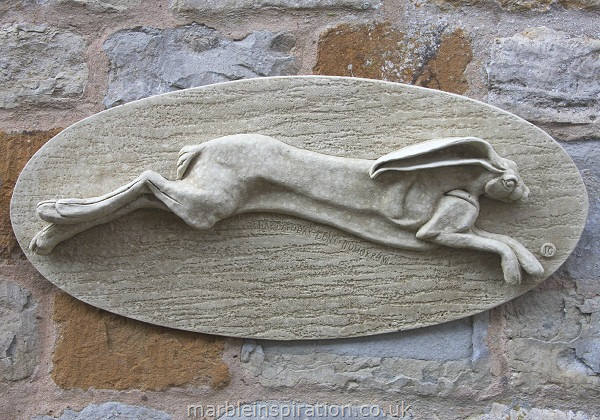 Garden Wall Plaques : Animal Wall Plaques : Hare Wall Plaque 'Hare Today Gone Tomorrow'
