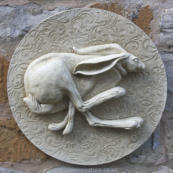Garden wall plaques animal wall plaques hare wall plaque wind in