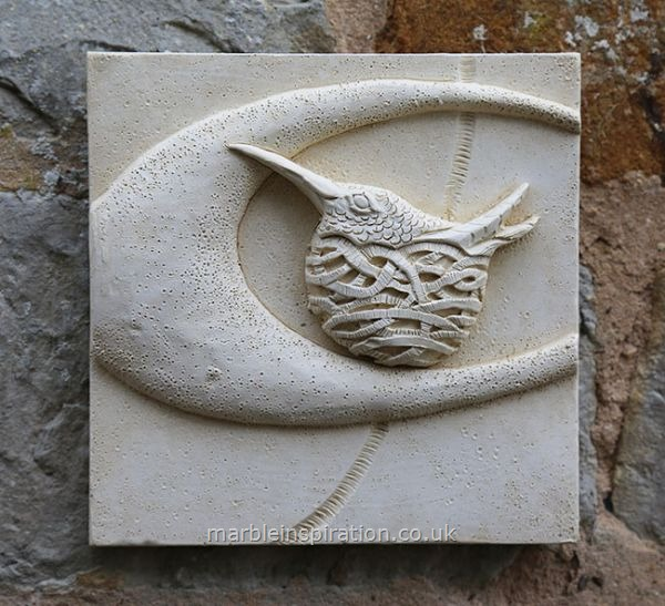 Garden Wall Plaques : Animal Wall Plaques : Hummingbird Wall Tile -  Bird Design Garden Wall Plaque
