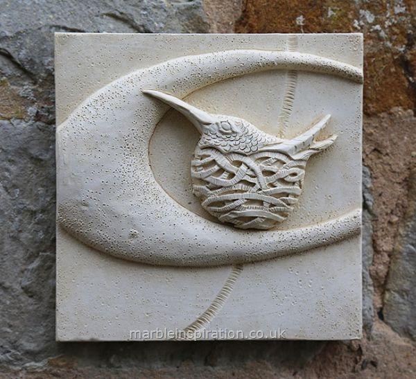 Hummingbird Wall Tile Bird Design Garden Wall Plaque