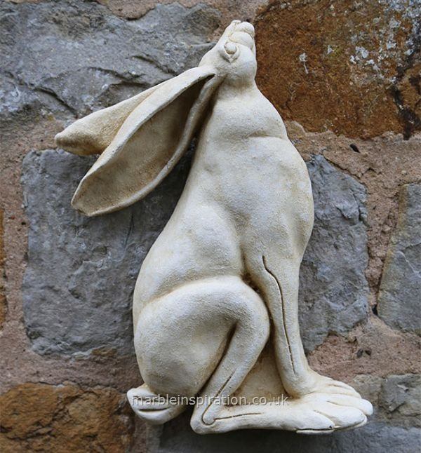 Garden Wall Plaques : Animal Wall Plaques : 'Lunar Hare' (Outline) Wall Decoration