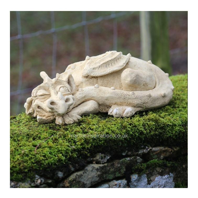 Puff Dragon Garden Ornament, Stone Dragon Garden Ornaments Uk