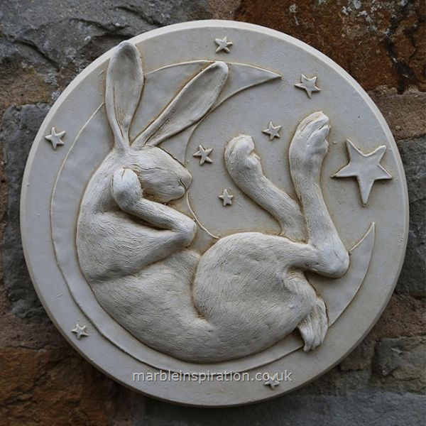 Hare in Moon Wall Plaque