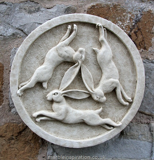 Hare Wall Plaque 'Three Hares'