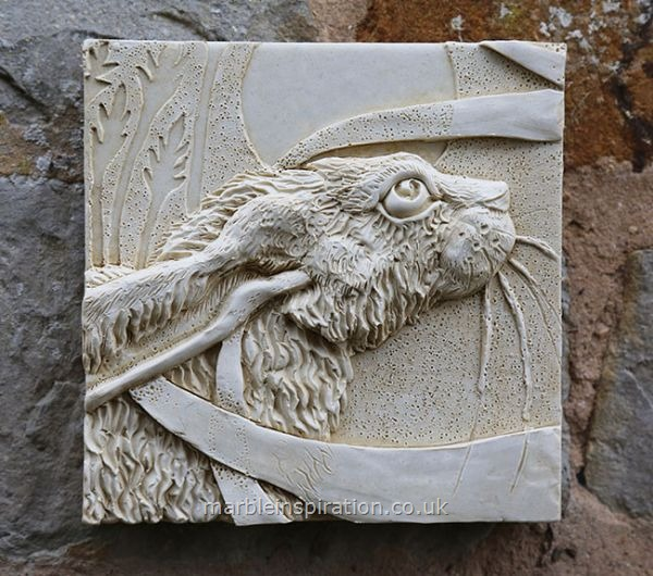 Hare Wall Tile (Right) Garden Wall Plaque