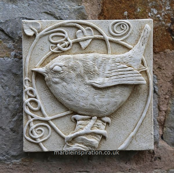 Wren Wall Tile - Bird Design Garden Wall Plaque