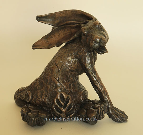 Garden Ornaments : Bronze Garden Ornaments : Bronze Ornament 'Hare Line Crack' for the Garden and Home