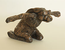 Bronze Ornament Hare Force One for the Garden and Home