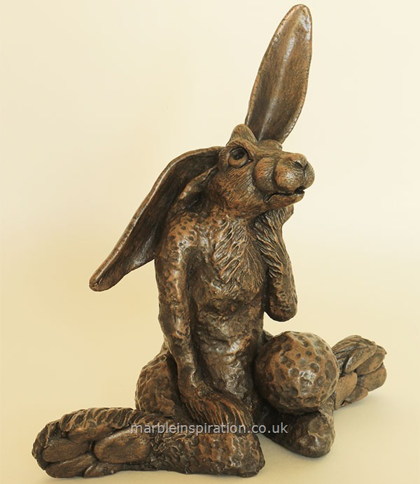 Bronze Ornament 'Lump Hare' for the Garden and Home