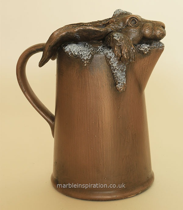 Bronze Ornament 'Jugged Hare' for the Garden and Home