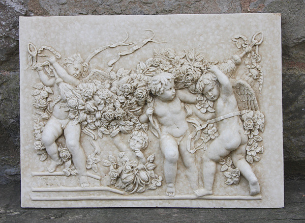 Four Cherubs Wall Plaque