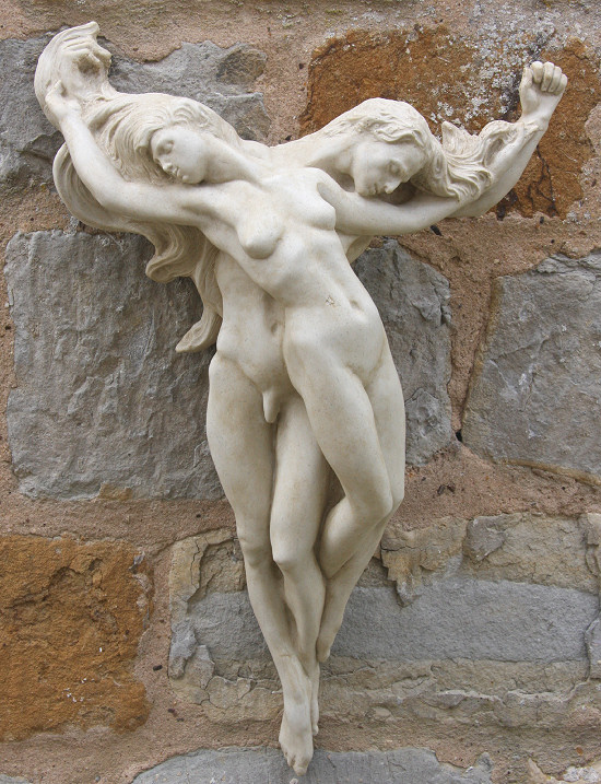 Garden Ornaments : Body Sculptures : Lovers Wall Sculpture