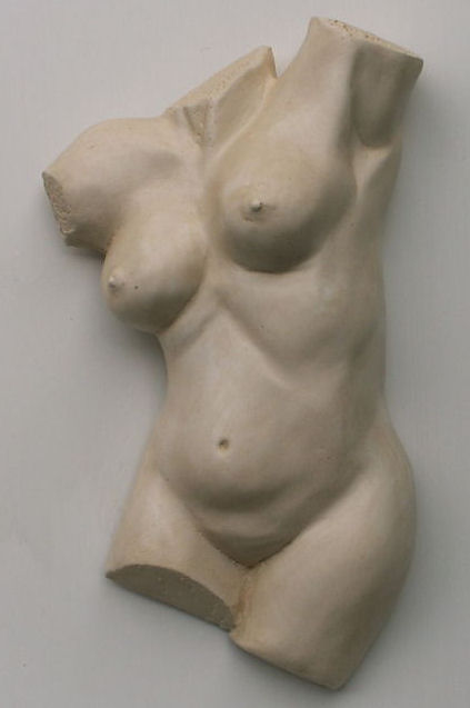 Female Torso Stone Ornament