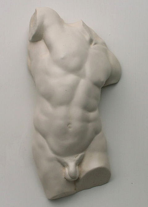 Male Torso Stone Ornament