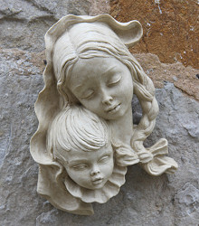 Mother and Child Wall Sculpture