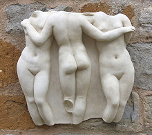 Three Graces Relief Wall Sculpture