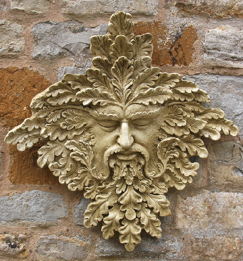 Garden Ornaments : Green Man Garden Ornaments : Green Man Garden Ornament 'Halford'