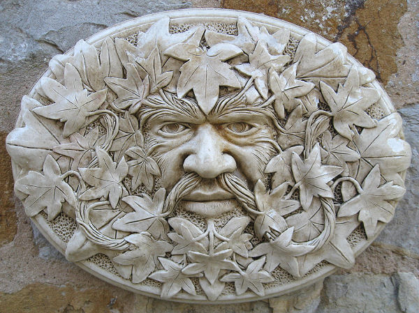 Oval Green Man Wall Plaque