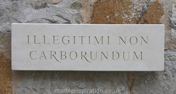 Garden Wall Plaques : Latin Wall Plaques : Latin Wall Plaque 'Illegitimi Non Carborundum' (Don't Let the Bastards Grind You Down)