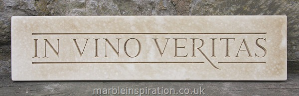 Garden Wall Plaques : Latin Wall Plaques : Latin Phrase Wall Plaque 'In Vino Veritas' (In Wine Truth)