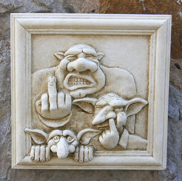 Garden Wall Plaques : Mythical Creatures & Fairy Wall Plaques : Goblin Family Wall Plaque