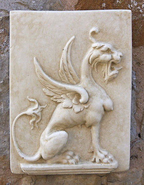 Garden Wall Plaques : Mythical Creatures & Fairy Wall Plaques : Griffin Wall Tile
