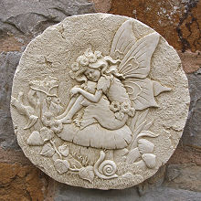 Round Fairy Wall Plaque