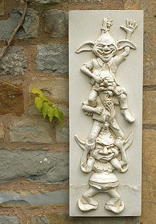 Stacking Goblins Wall Plaque