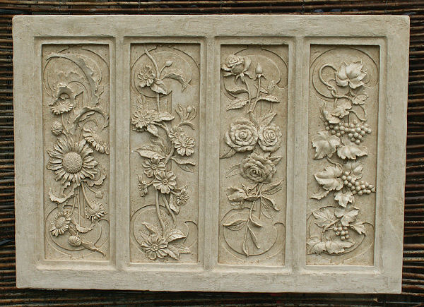 Garden Wall Plaques : Floral Wall Plaques : Four Seasons Wall Plaque