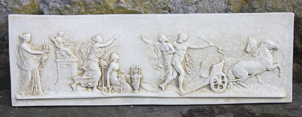 Garden Wall Plaques : Greek Wall Plaques : Large Greek Frieze Wall Plaque