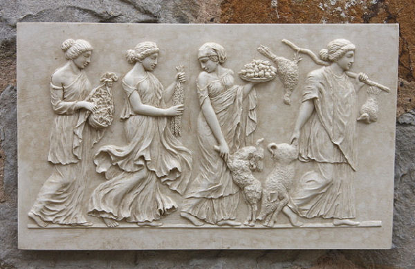 Garden Wall Plaques : Greek Wall Plaques : Greek Frieze Wall Plaque
