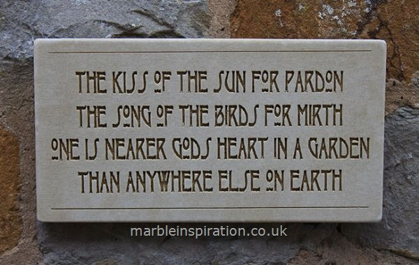 garden wall plaques written word marble plaques wall sign the kiss of the - Garden Plaques