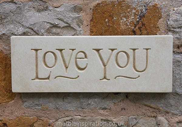 Garden Wall Plaques Written Word Marble Plaques Message Wall Plaque Love You
