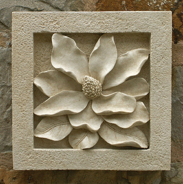 Magnolia Wall Tile Garden Wall Plaques Online Floral Wall