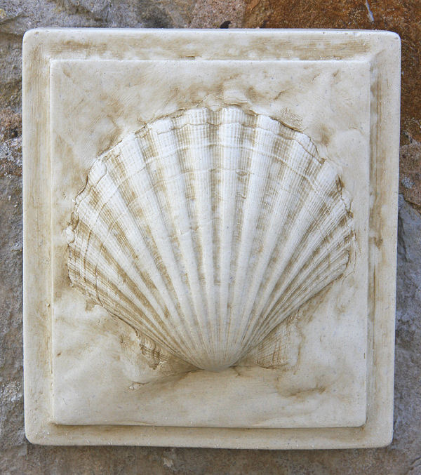 Very CLAM SHELL WALL Tile - Garden Wall Plaques Find Sea Shell Wall  GO17