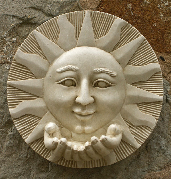 Sun Wall Plaque With Hands Garden Wall Plaques Online