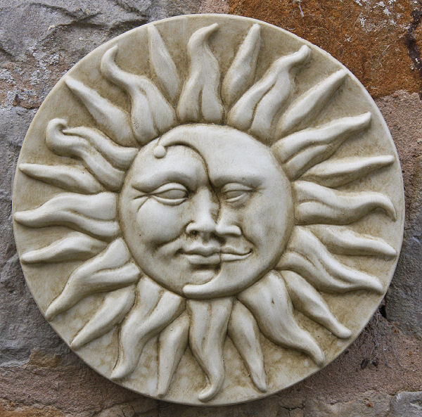 Garden Wall Plaques : Sun & Moon Wall Plaques : Sun and Moon Wall Plaque
