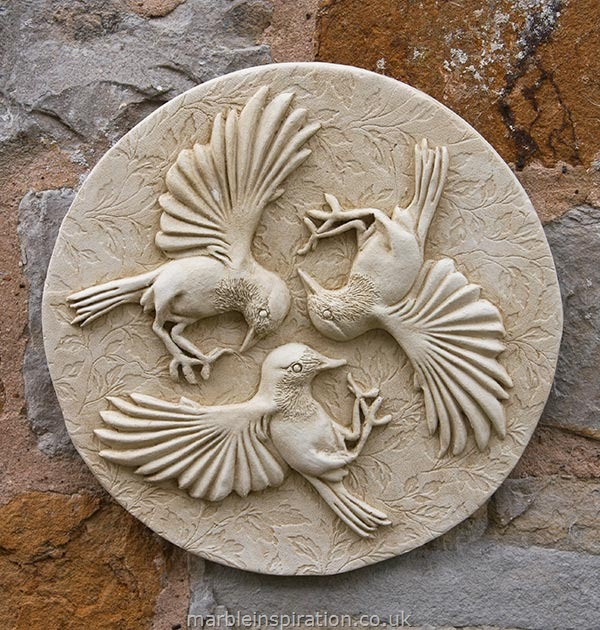 Garden Wall Plaques : Animal Wall Plaques : Three Birds Wall Plaque
