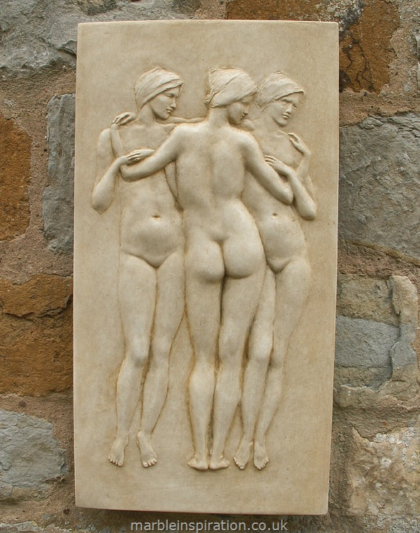 Garden Wall Plaques : Greek Wall Plaques : Garden Wall Plaque 'Three Graces'