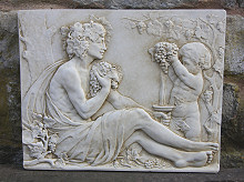 Mythology Wall Plaque Bacchus and Boy