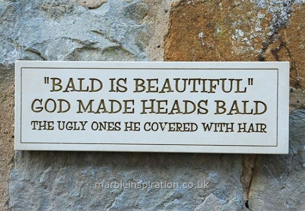 Wall Plaque 'Bald is Beautiful'